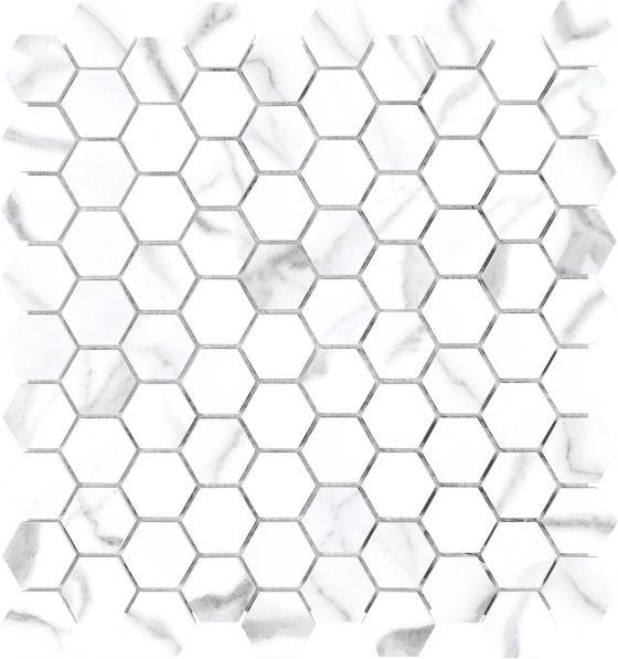 Statuario Venato Hexagon
