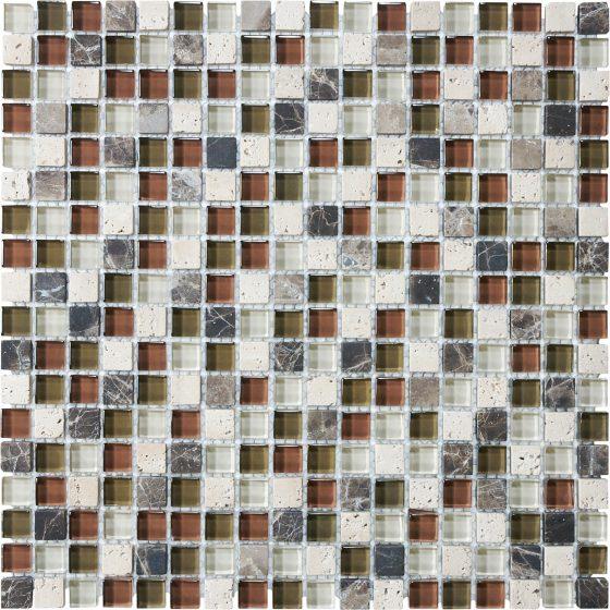 Cabernet Glass Stone Block