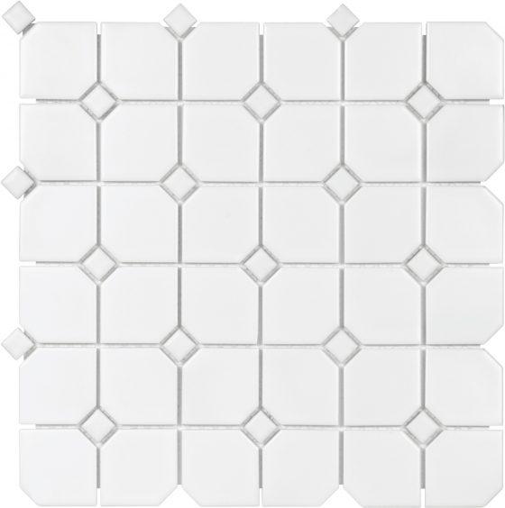 2x2 White w/White Dot Matte