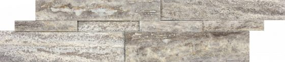 Silver Ash Veincut Travertine Honed Cubics